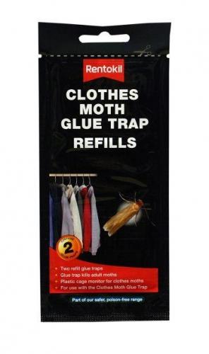 Pack Of 2 Rentokil Clothes Moth Glue Trap Refills