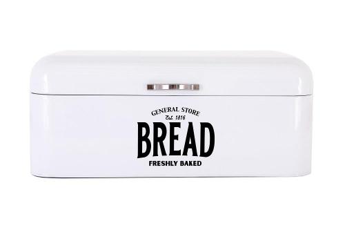 Bread Bin Metal White Ideal for Storage Snacks Pancakes Breakfast