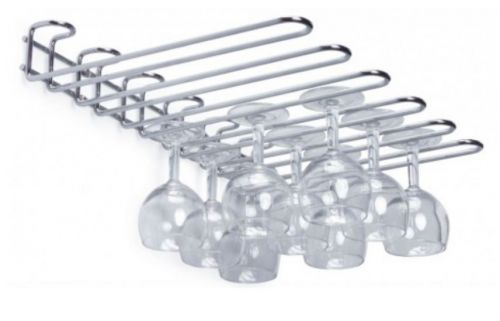Chrome Wall Hanging Glass Rack 20 Glasses Hanging Space