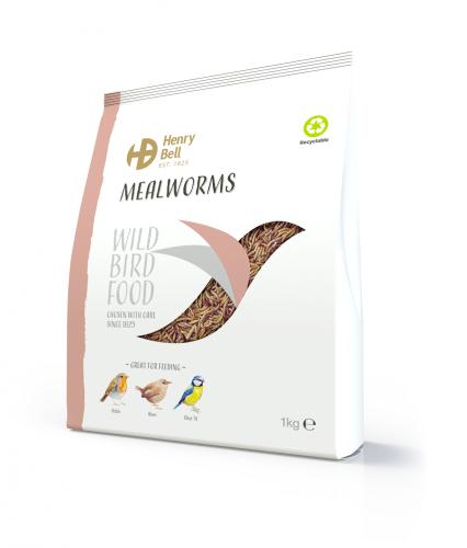 Henry Bell Mealworm 1kg Wild Bird Food