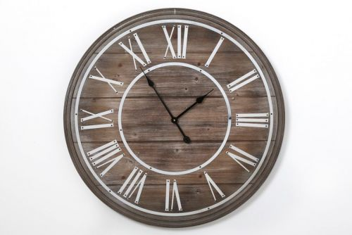 80X5Cm Large Elegant Wooden Wall Clock Home Kitchen Office Roman Numericals
