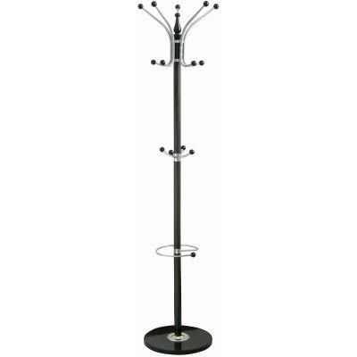 14 Hook Hat and Coat Stand strong Black