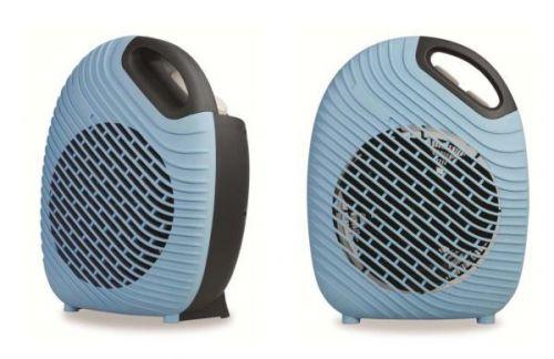 2Kw Blue Two Tone Fan Heater Compact Stylish