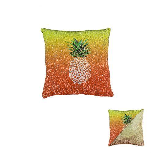 Pineapple Sequin yellow Cushion 40cm