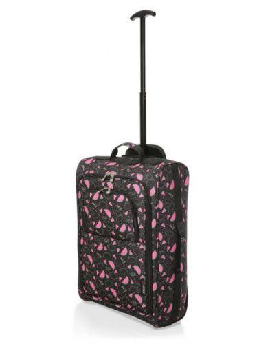 Black Watermelon Print 21 Inch Cabin 2 wheeled Trolley Bag Flight Jet Travel Hand Luggage Lightweight