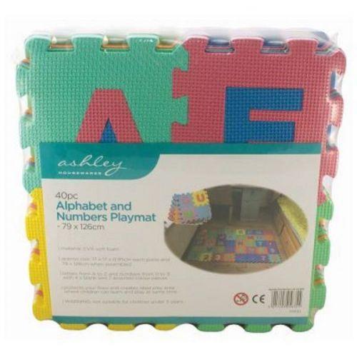 40pc Alphabet & Numbers EVA Foam Play Mat Set Kids Indoor Outdoor Use Garden