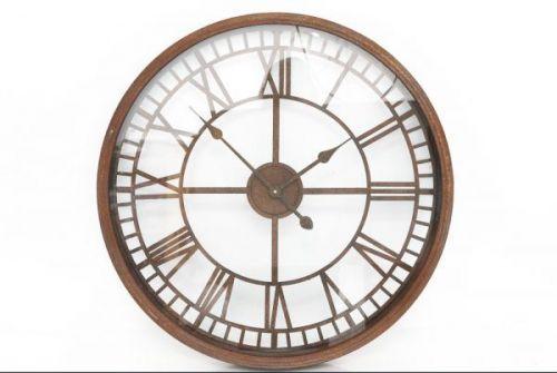 67x67cm Rustic Glass Face Metal Wall Clock