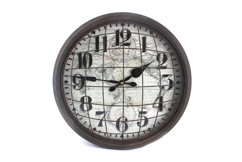 Metal Wired Wall Clock Round Home Office Decoration