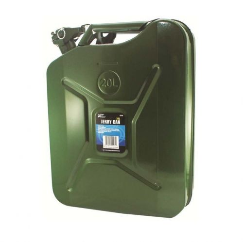 20L Heavy Duty Green Metal Jerry Can Fuel Camping Journey Equipment