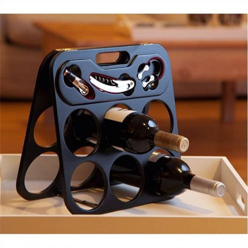 4pcs Wine Set and Bottle Holder