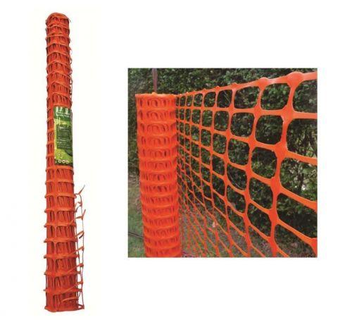 1 X 15M Orange Plastic Barrier Mesh Fencing For Garden Safety