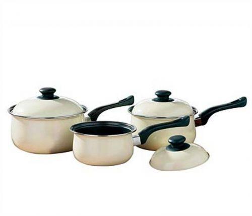 3pc Cream Cookware Set