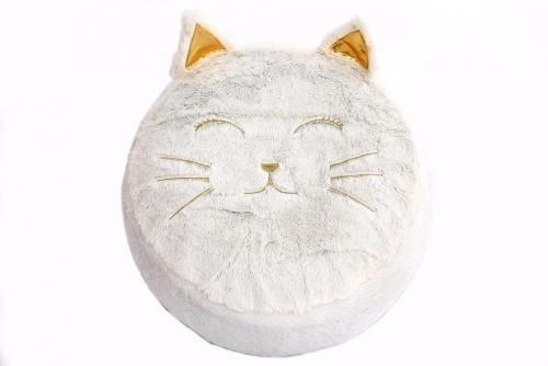 Velvet Pouffe For Children Wilddidou Cat 45cm Dia