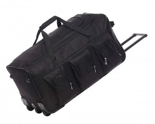 5Cities Large Rolling Holdall bag with wheels Black 102L
