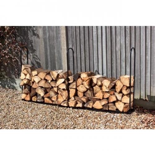2m Wood Log Store Outdoor Garden Fire Log Storage Unit