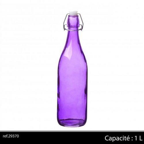1Ltr Glass Bottle Purple