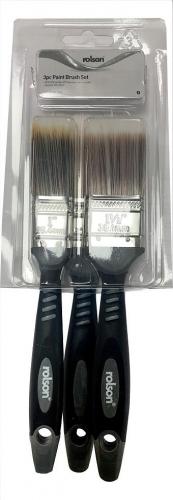 3Pc Paint Brush Set Rolson