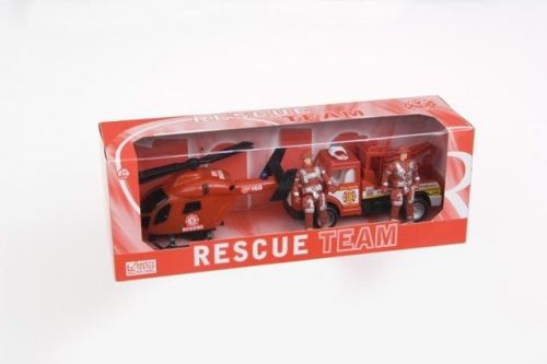 2 Rescue Play Set Helicopter And Truck Children Kids Toys