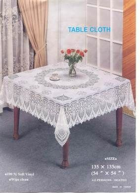 54in Square Crochet Tablecloth