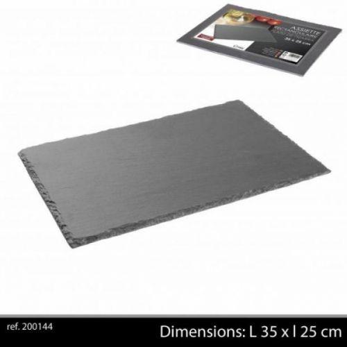 Ardoise Tableware Serving Platter 35x25cm Starter Slate Plate