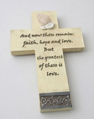 Cross Plaque Wall Decoration