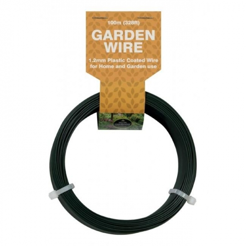 1.2mm Plastic Coated Galvanised Garden Wire 100M Long