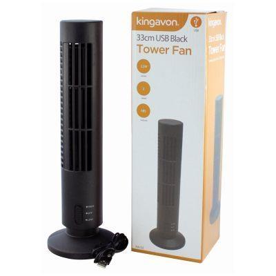 33CM USB Black Tower Fan Kingavon