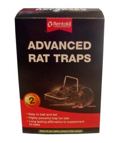 Pack Of 2 Rentokil Advanced Rat Mouse Trap