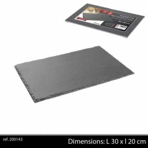Ardoise Tableware Serving Platter 30x20cm Starter Slate Plate