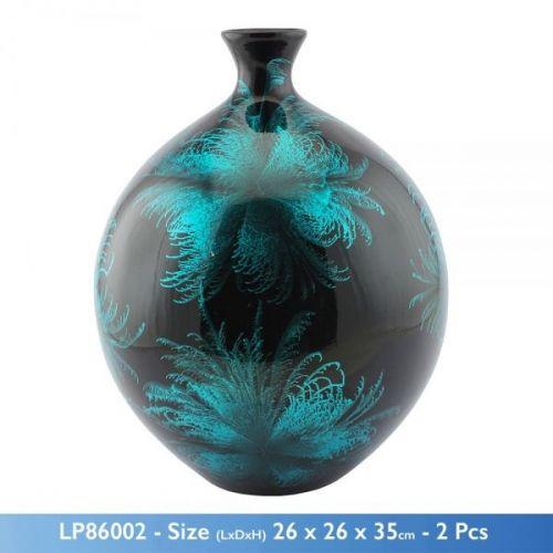 50Cm Starburst Aqua Themed Blue Vase