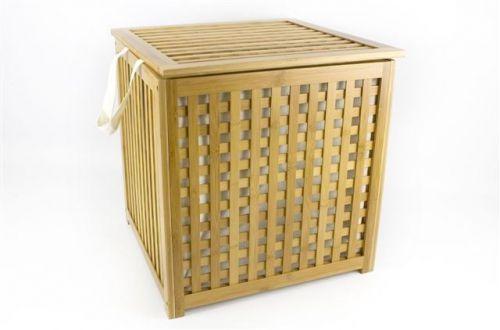 47X47X48Cm Bamboo Laundry Bin Basket