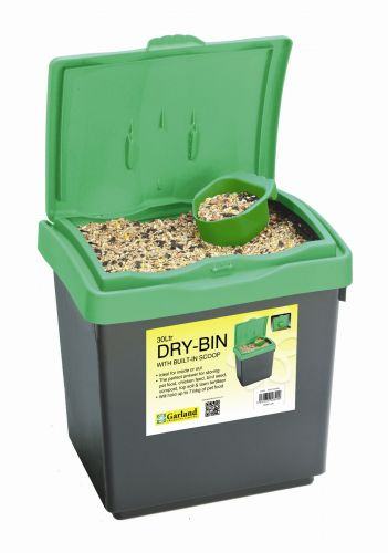 30L Dry-bin with scoop made from plastic for storage
