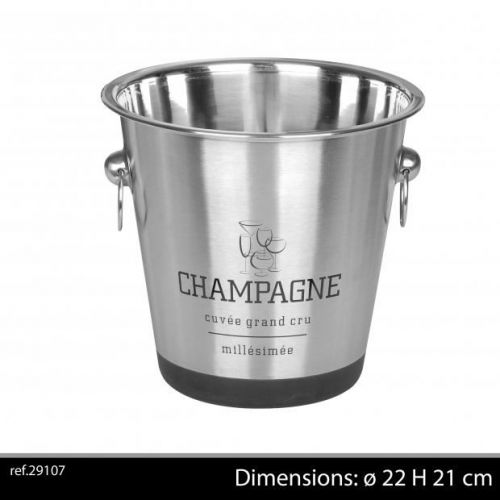 Chrome Champagne Bucket With Non Slip Base