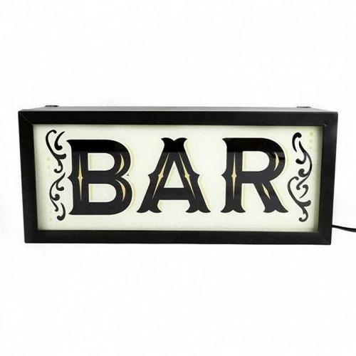 37cm Bar Light Box Sign Indoor Outdoor Light UK Plug