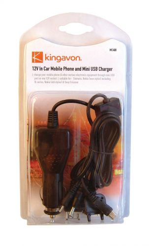 12V In Car Mobile Phone And Mini USB Charger