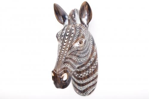 35cm Wall Hanging Zebra Head Ornament