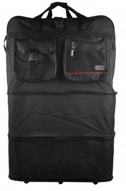 Expanding Shopping Bag Black