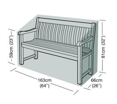 3 Seater Bench Cover Green Polyethylene