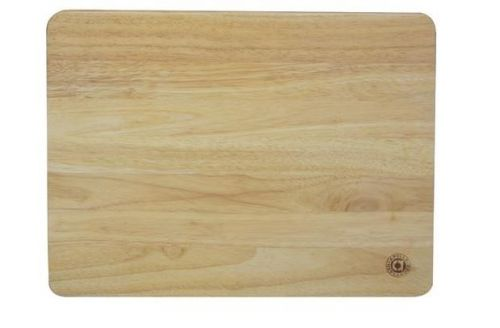 45x35cm Wooden Pastry Chopping Kitchen Board Heavea Rubber Wood Large