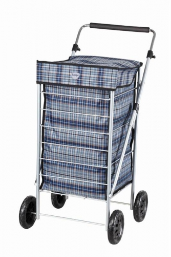 4 Wheel Shopping Trolley Navy