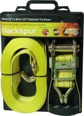 50mm 2 inches x 8mtr 27ft Ratchet Tie Down