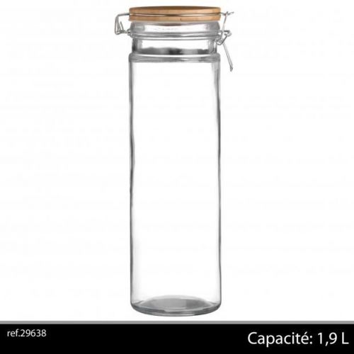 1,9 Ltr Storage Jar With Bamboo Lid