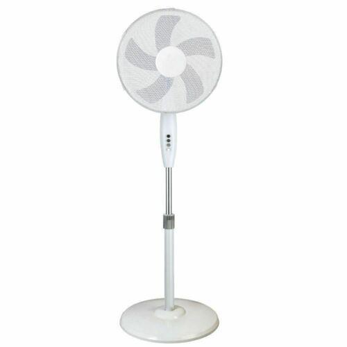 16 Inch Oscillating Pedestal Stand Fan Round Base white