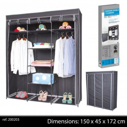 Fabric Wardrobe 150X45X172