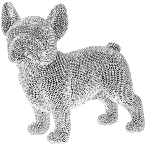 Leonardo Silver Sparkle Diamante Glitter Standing French Bulldog