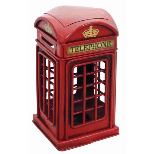 Telephone Box Metal Garden Ornament Vintage New Classic