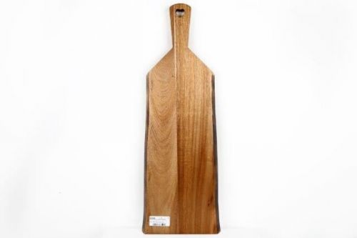 55X20Cm Acacia Wooden Presentation Paddle Serving Chopping Board Tray Home Kitchen