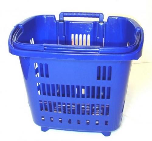 Blue Rolling Shopping, Laundry Basket