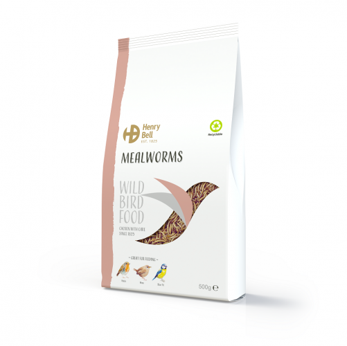 Henry Bell Mealworms 500g Wild Bird Food
