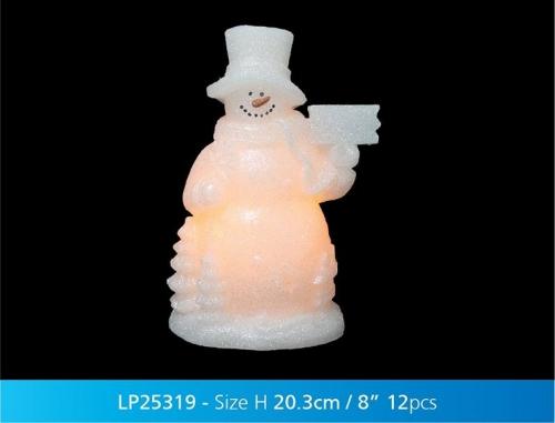 Christmas Magic Led Snowman Xmas Decorative Light Gift Ornament